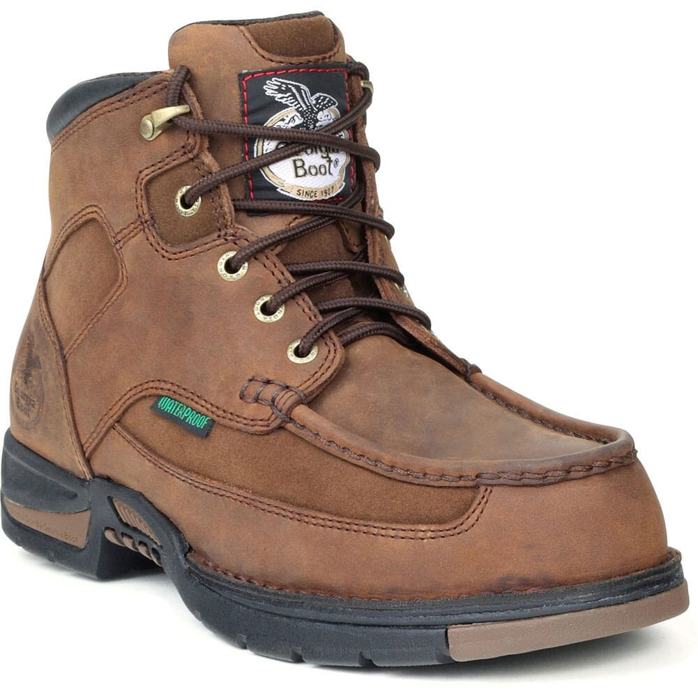 Image for Georgia Men's Athens Waterproof Safety Boots - Brown from bootbay