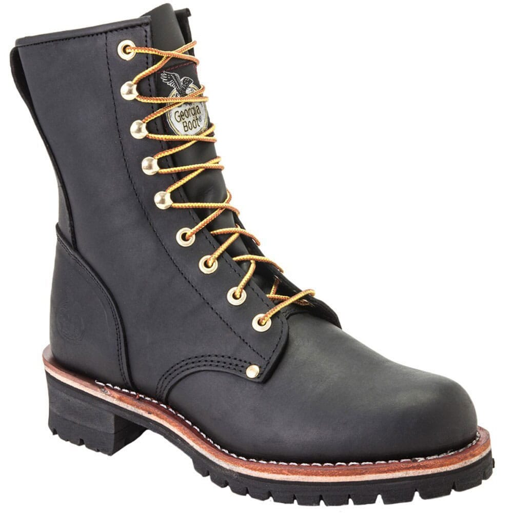 Image for Georgia Men's Oil Tanned Safety Loggers - Black from bootbay