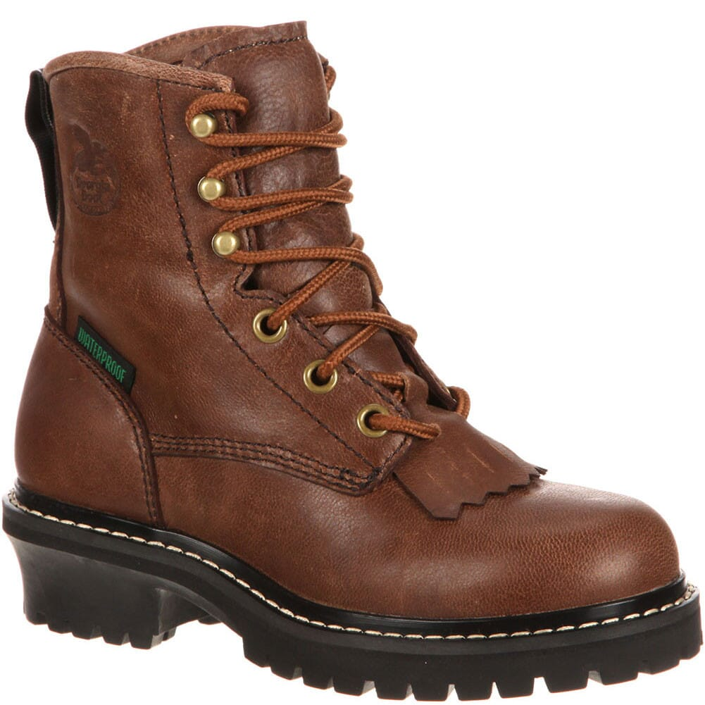 Image for Georgia Little Kids' Waterproof Loggers - Brown from bootbay