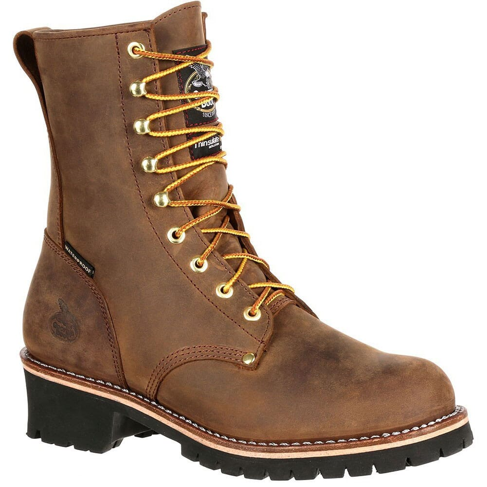 Image for Georgia Men's WP Insulated Safety Logger - Brown from bootbay