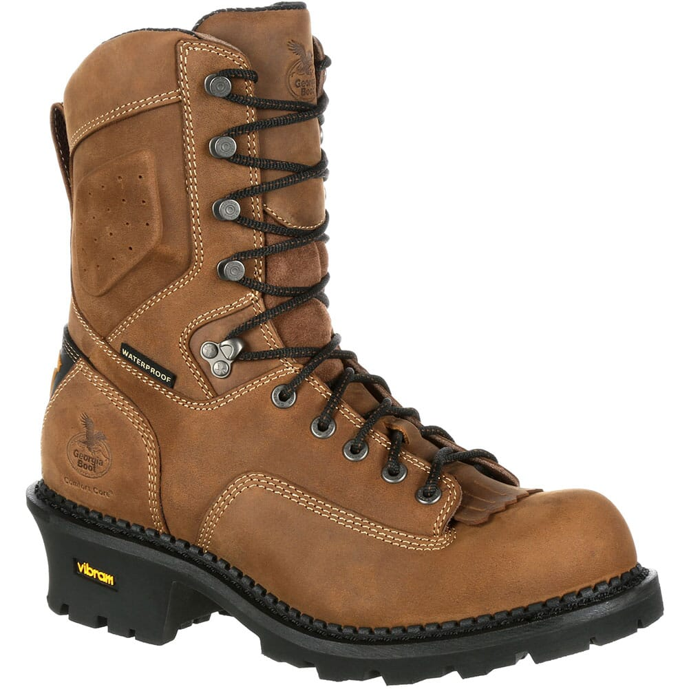 Image for Georgia Men's Comfort Core Safety Loggers - Brown from bootbay