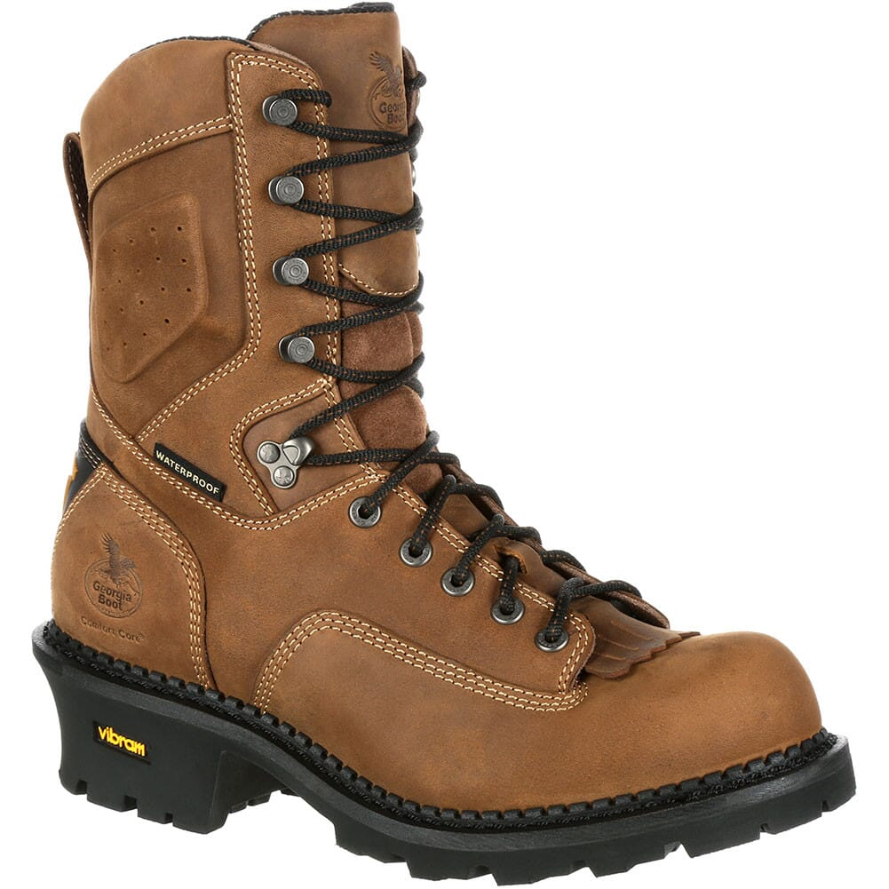 Image for Georgia Men's Comfort Core WP Ins Safety Loggers - Brown from bootbay