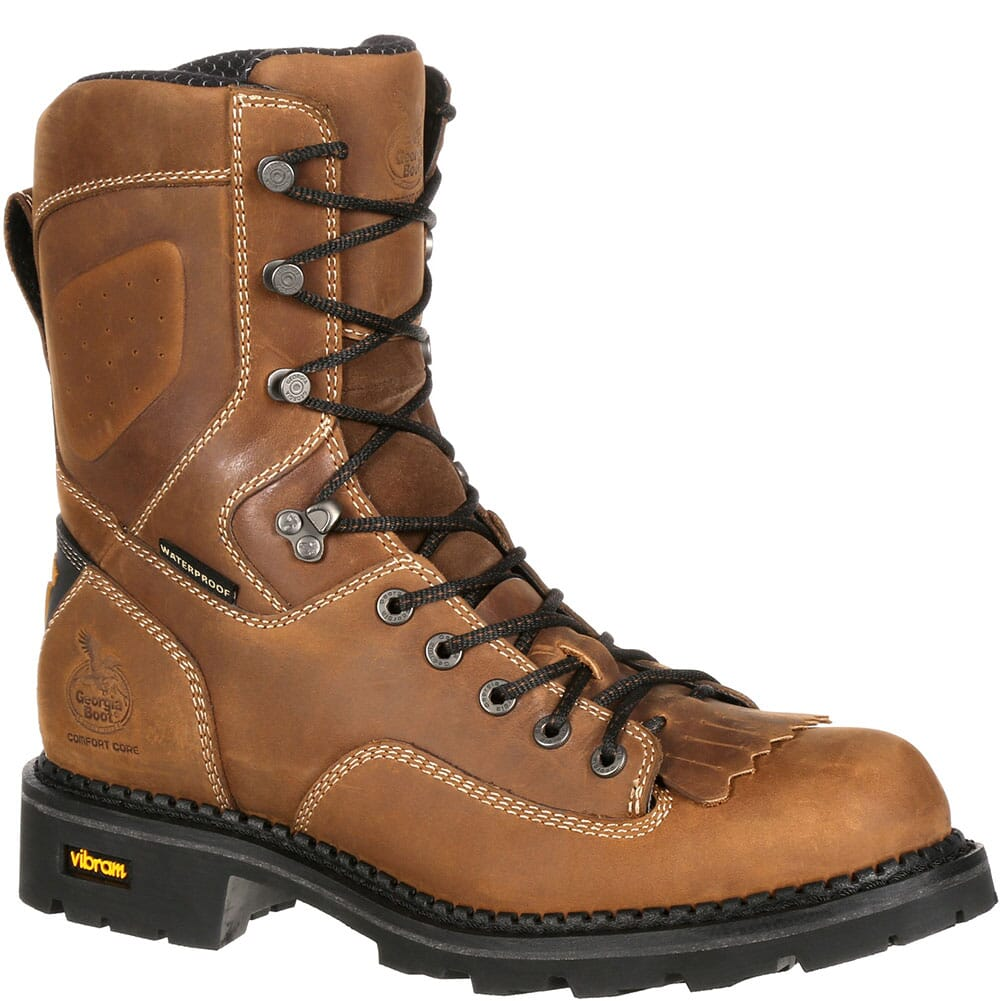 Image for Georgia Men's Comfort Core 8IN Safety Loggers - Brown from bootbay