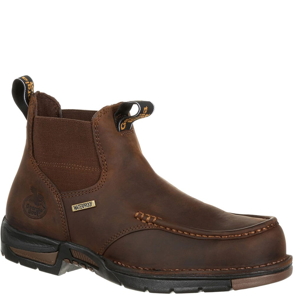 Image for Georgia Men's Athens Chelsea WP Work Boots - Dark Brown from bootbay