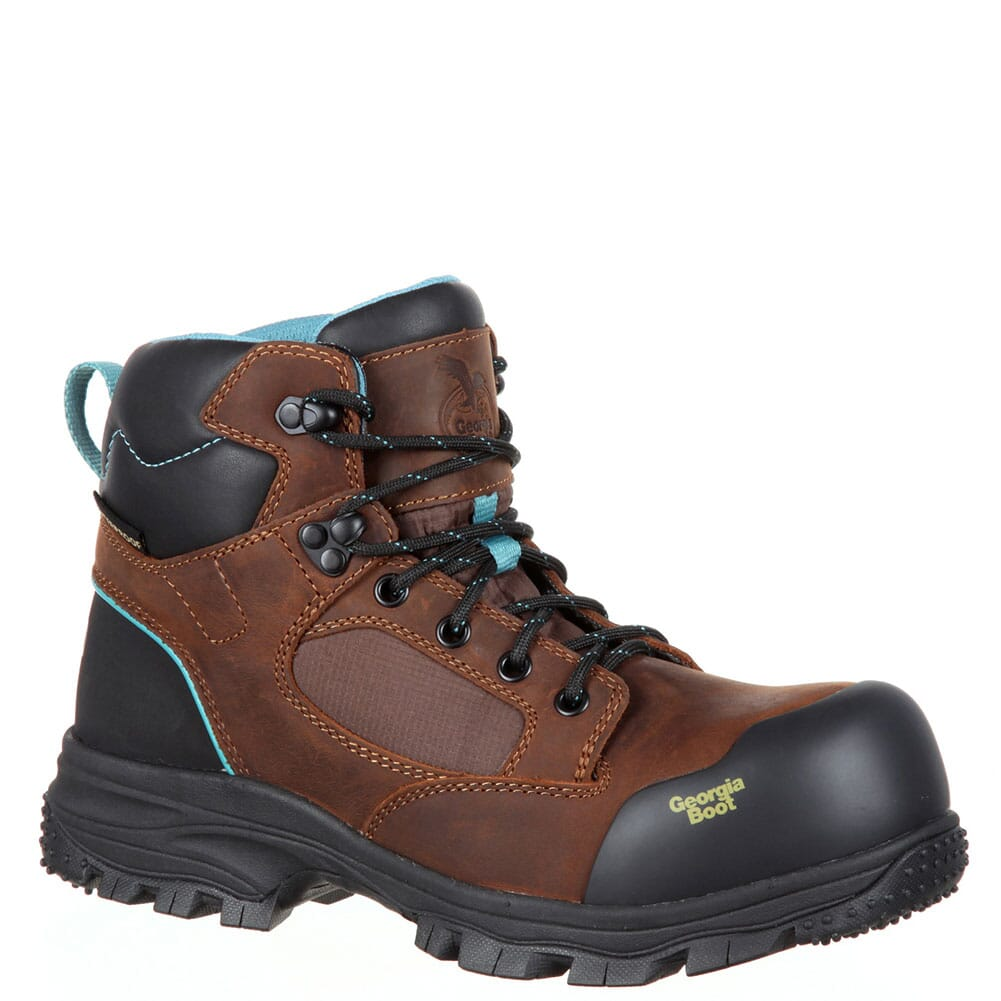 Image for Georgia Women's Blue Collar WP Safety Boots - Dark Brown from elliottsboots