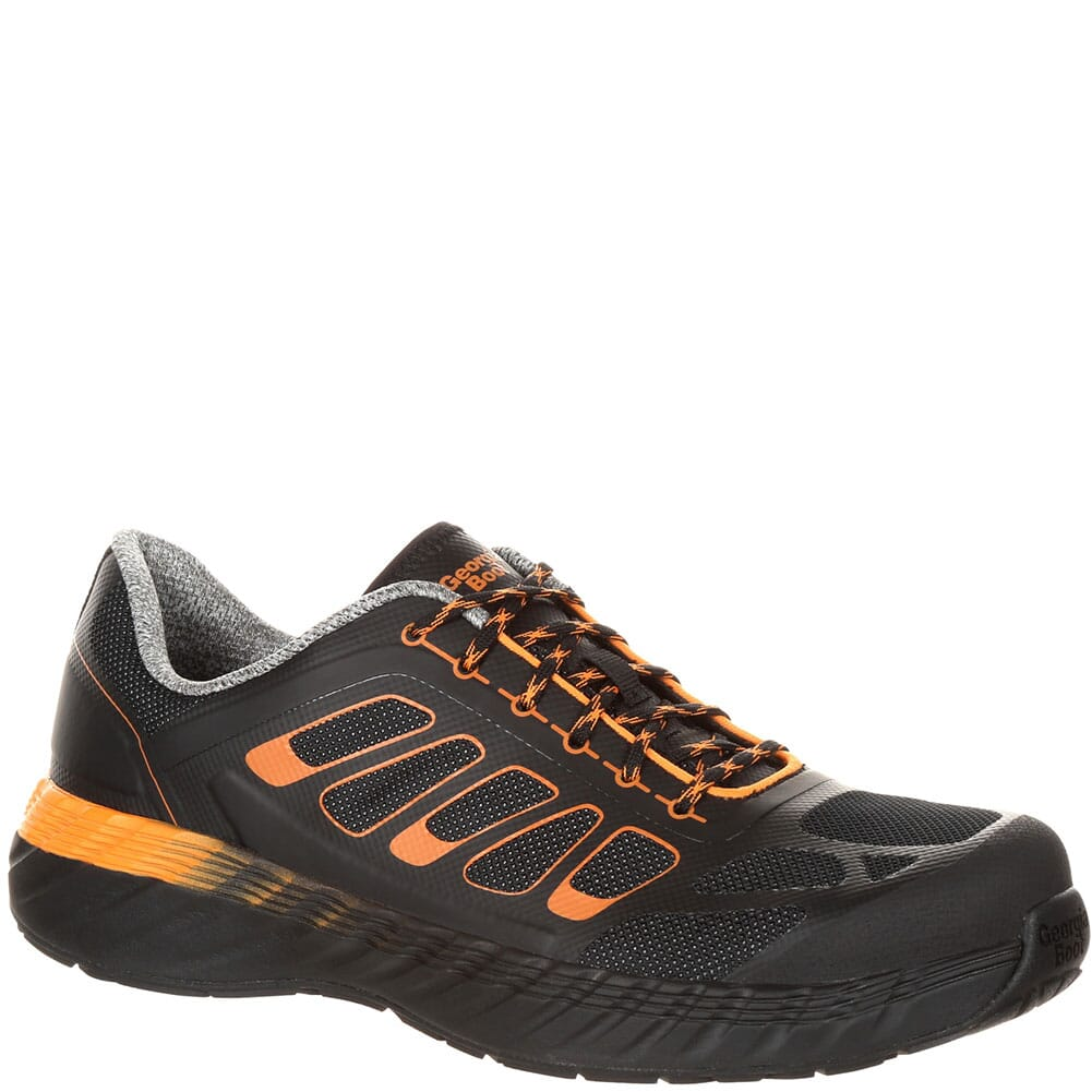 Image for Georgia Men's REFLX EH Safety Shoes - Black/Orange from bootbay