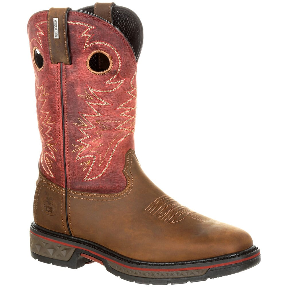 Image for Georgia Men's Carbo-Tec WP Safety Boots - Brown/Red from bootbay