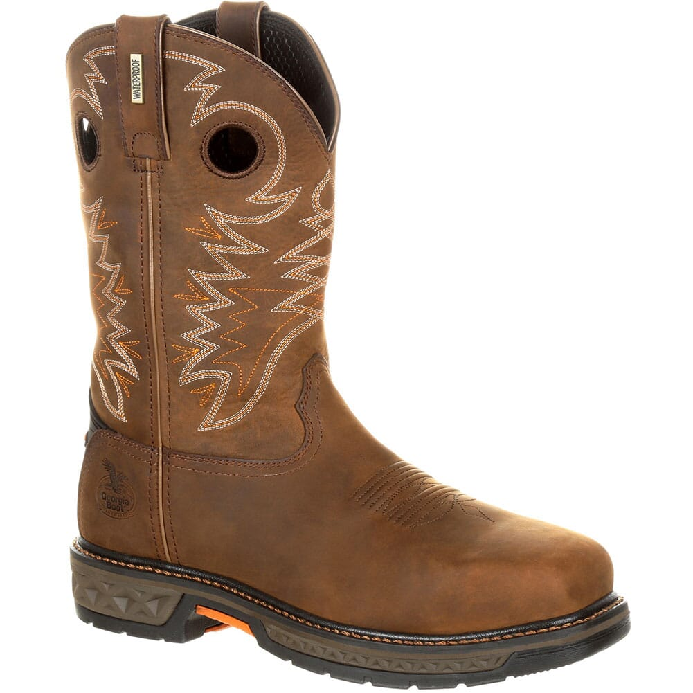 Image for Georgia Men's Carbo Tec WP Safety Boots - Brown from bootbay