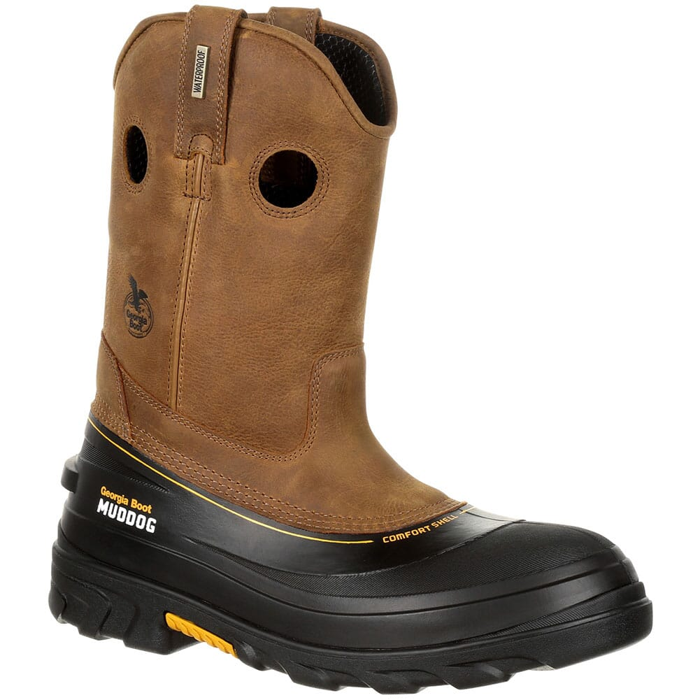 Image for Georgia Men's Muddog WP Safety Boots - Barracuda Gold from bootbay