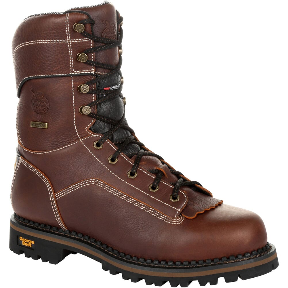 Image for Georgia Men's AMP LT Safety Loggers - Brown from bootbay