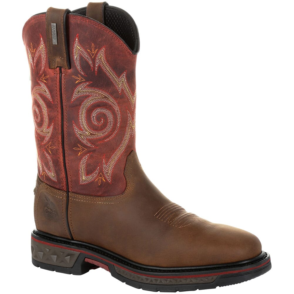 Image for Georgia Men's Carbo-Tec LT WP Work Boots - Brown/Red from bootbay