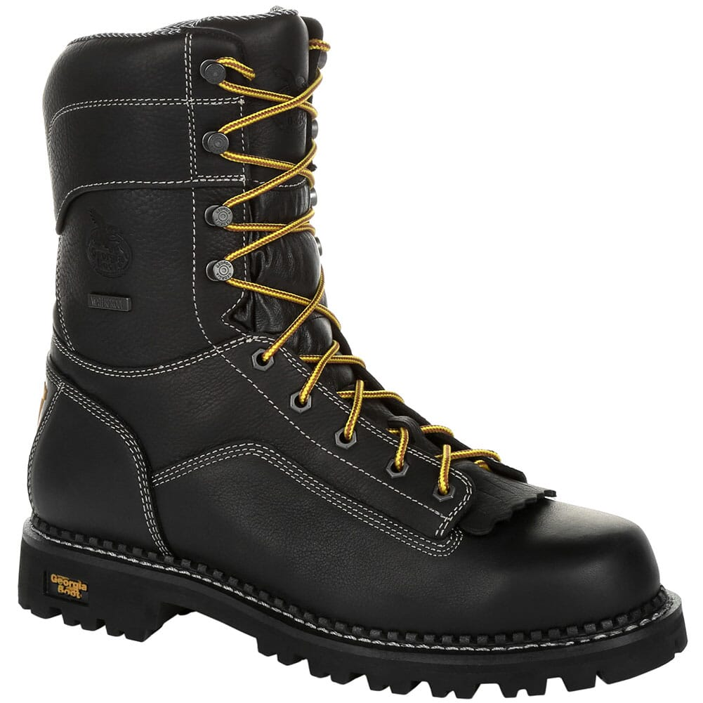 Image for Georgia Men's AMP LT WP Safety Loggers - Black from bootbay