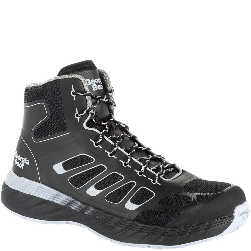 Image for Georgia Men's Reflx Athletic Hi-Top Safety Boots - Black/Grey from bootbay