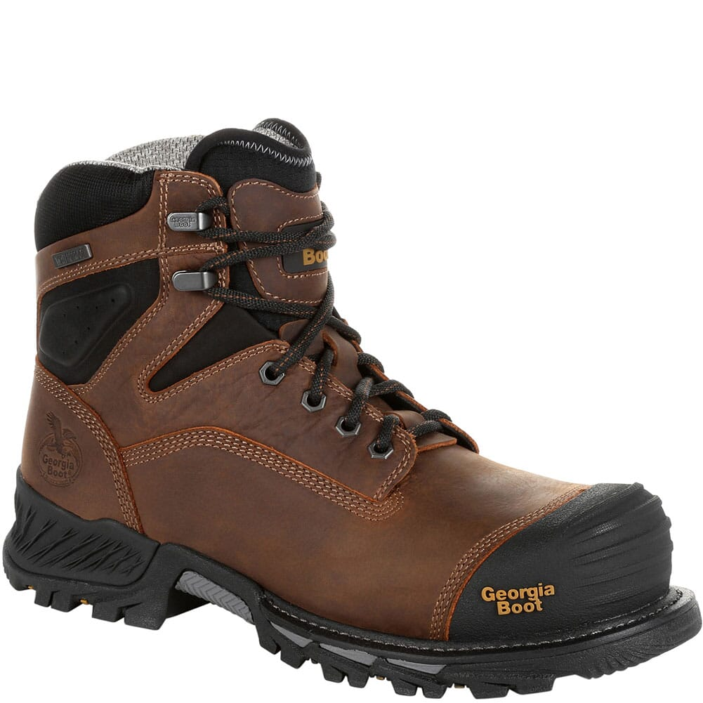 Image for Georgia Men's Rumbler WP EH Safety Boots - Brown/Black from bootbay