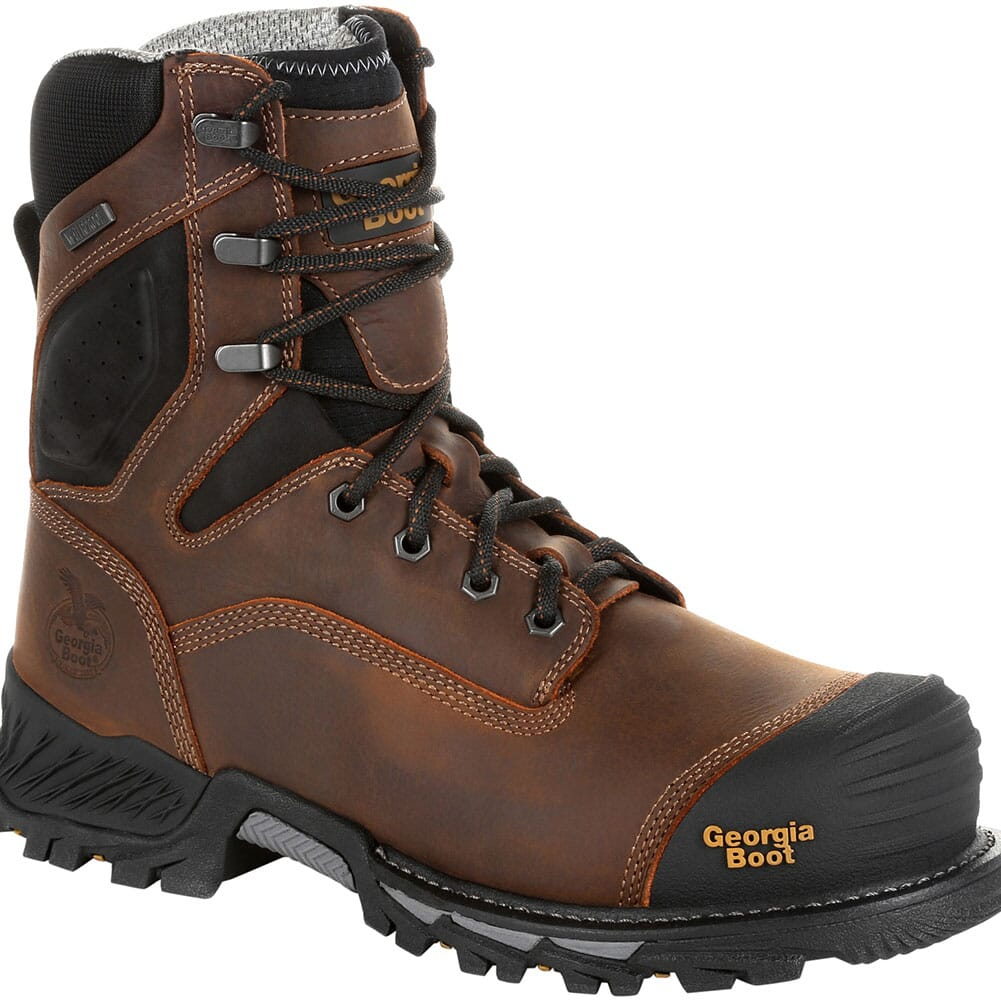 Image for Georgia Men's Rumbler 8IN WP Safety Boots - Brown/Black from bootbay