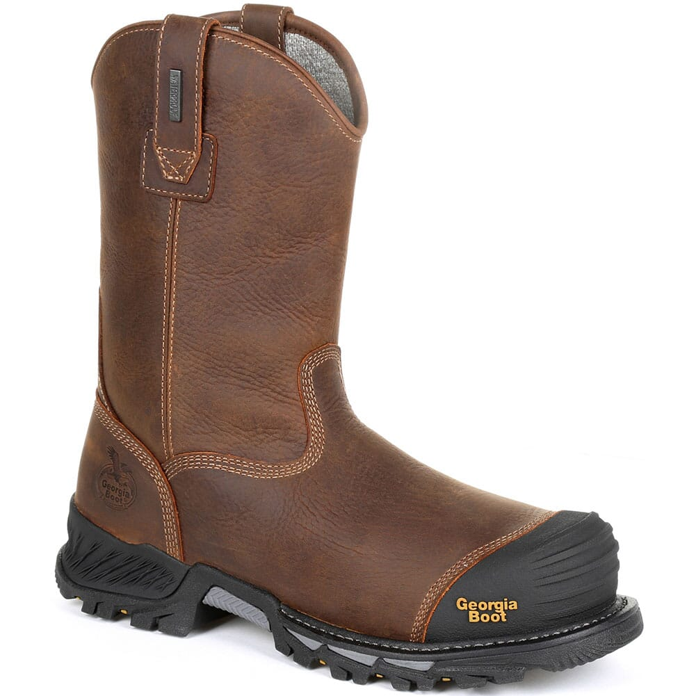 Image for Georgia Men's Rumbler PullOn WP Safety Boots - Brown Black from bootbay