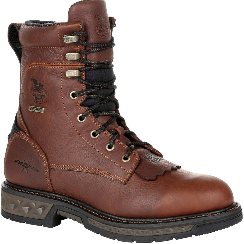 Image for Georgia Men's Carbo-Tec LT WP Work Lacers - Brown from bootbay