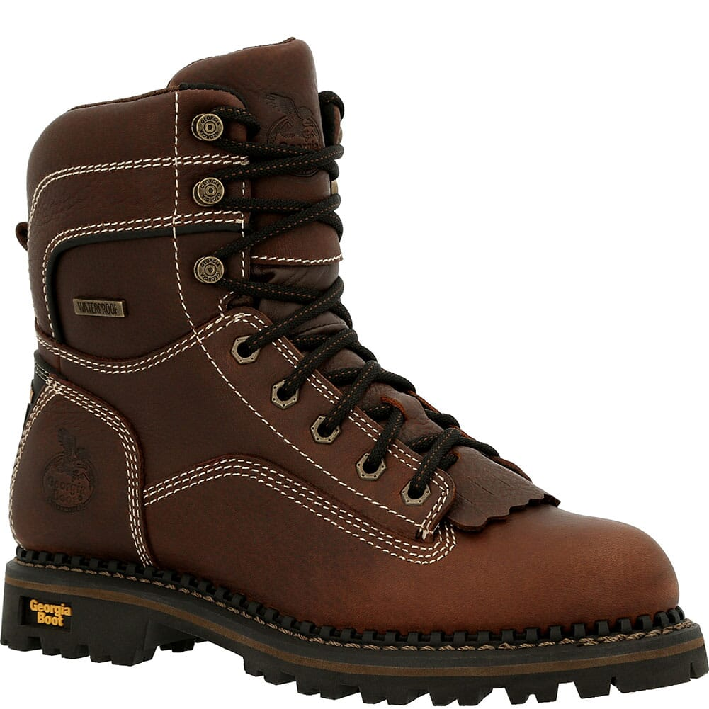 Image for Georgia Women's Amp LT WP Work Loggers - Brown from elliottsboots