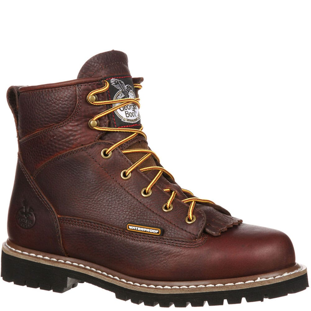 Image for Georgia Men's Lace-To-Toe WP Safety Boots - Chocolate from bootbay