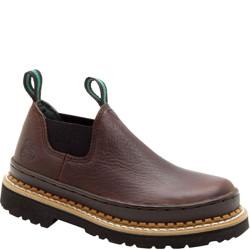Image for Georgia Kid's Romeo Casual Shoes - Soggy Brown from bootbay