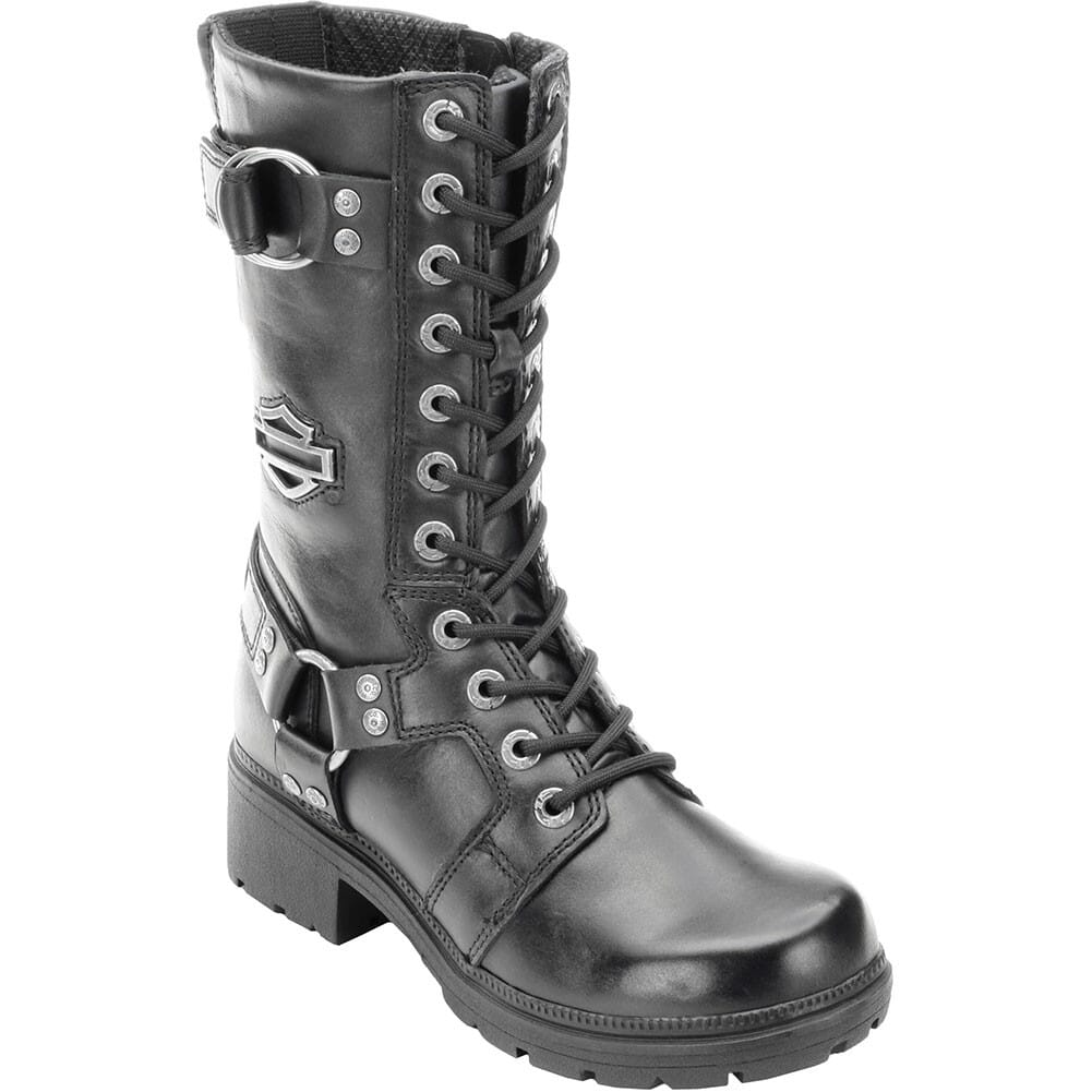 Image for Harley Davidson Women's Eda Motorcycle Boots - Black from bootbay
