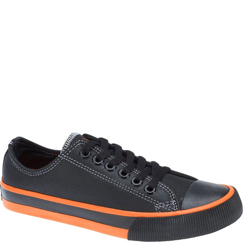 Image for Harley Davidson Women's Zia Casual Shoes - Black/Orange from bootbay