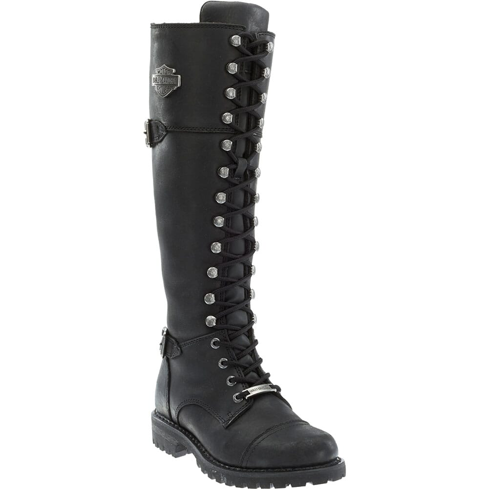 Image for Harley Davidson Women's Beechwood Motorcycle Boots - Black from elliottsboots