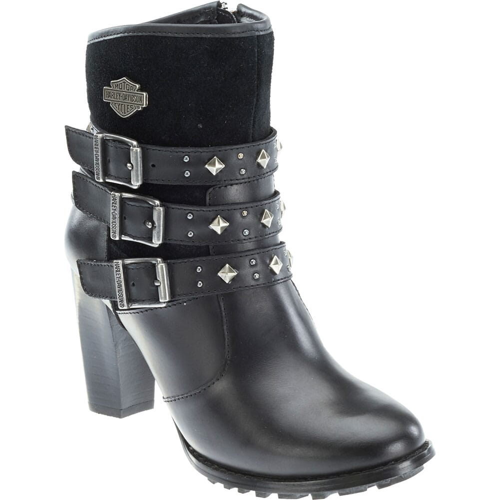 Image for Harley Davidson Women's Abbey Motorcycle Boots - Black from bootbay