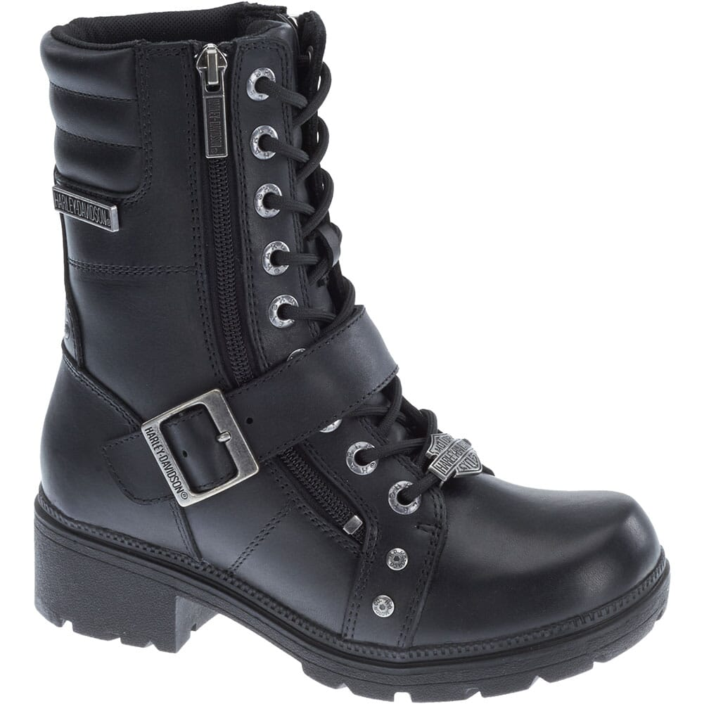Image for Harley Davidson Women's Talley Ridge Motorcycle Boots - Black from bootbay