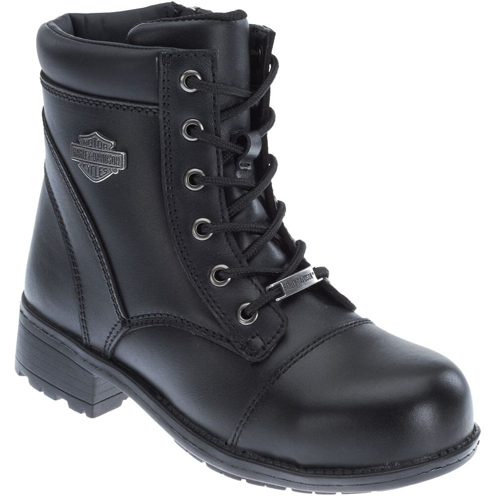 Image for Harley Davidson Women's Raine Safety Boots - Black from elliottsboots