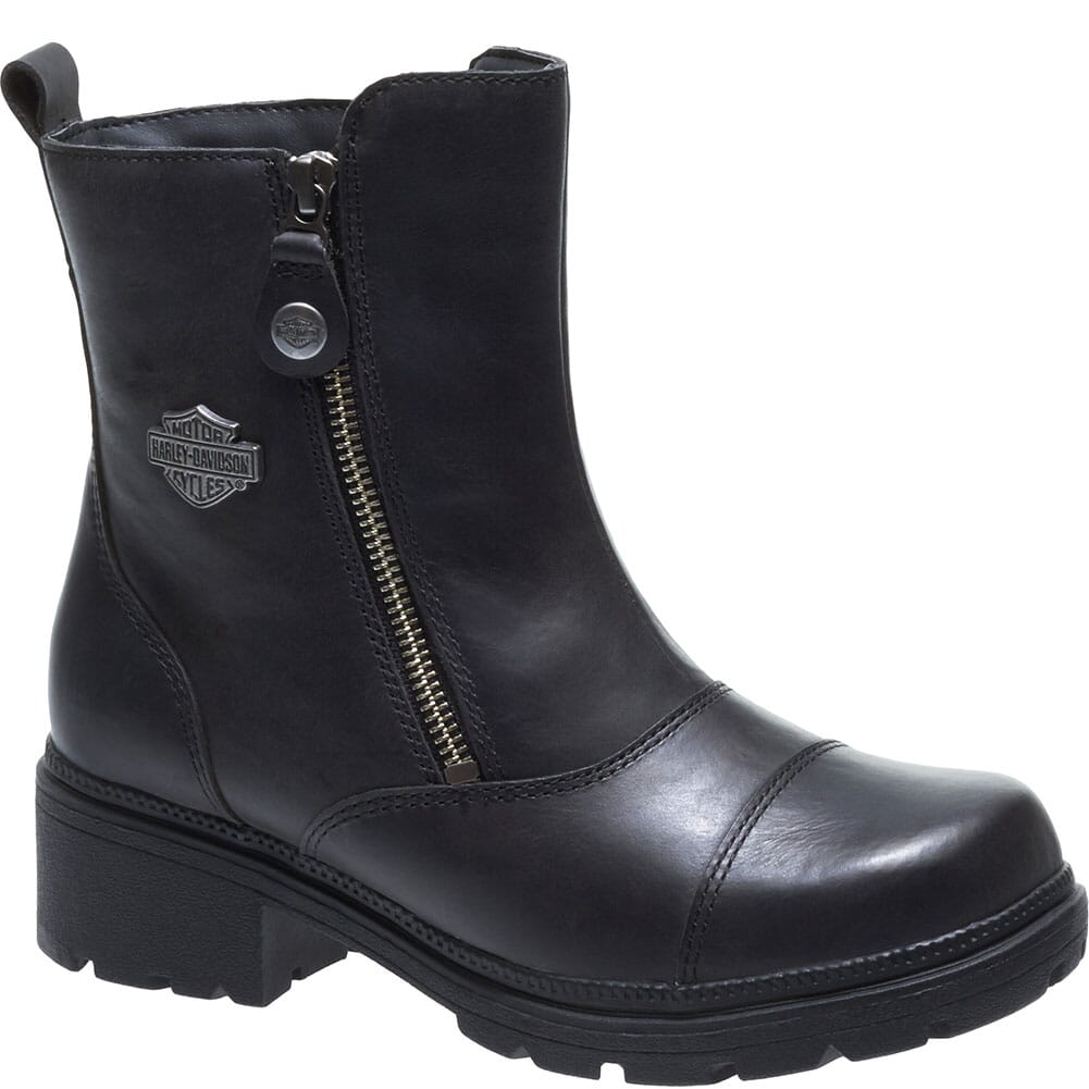 Image for Harley Davidson Women's Amherst Motorcycle Boots - Black from bootbay