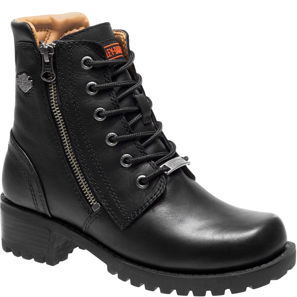 Image for Harley Davidson Women's Asher Motorcycle Boots - Black from bootbay