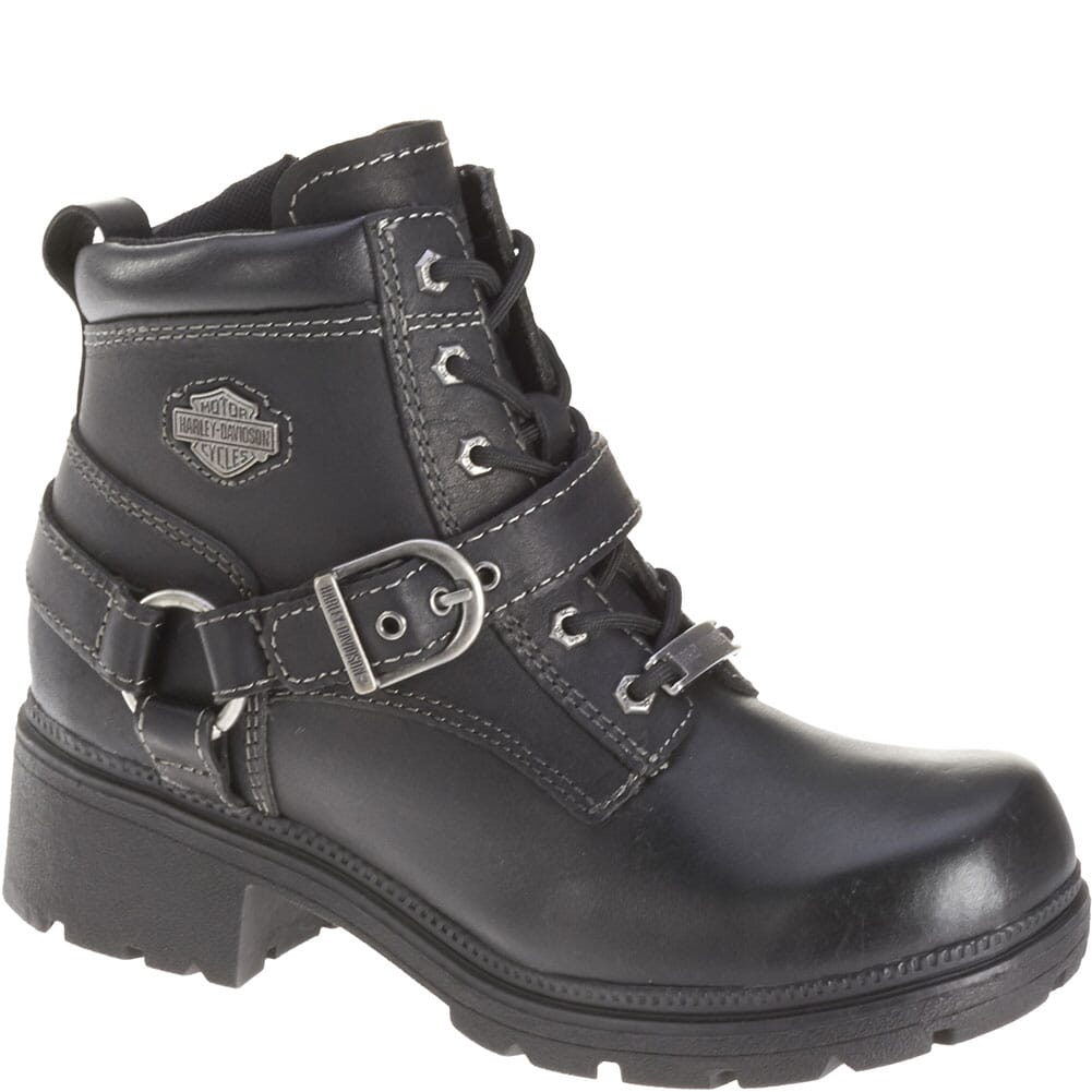 Image for Harley Davidson Women's Tegan Motorcycle Boots - Black from bootbay