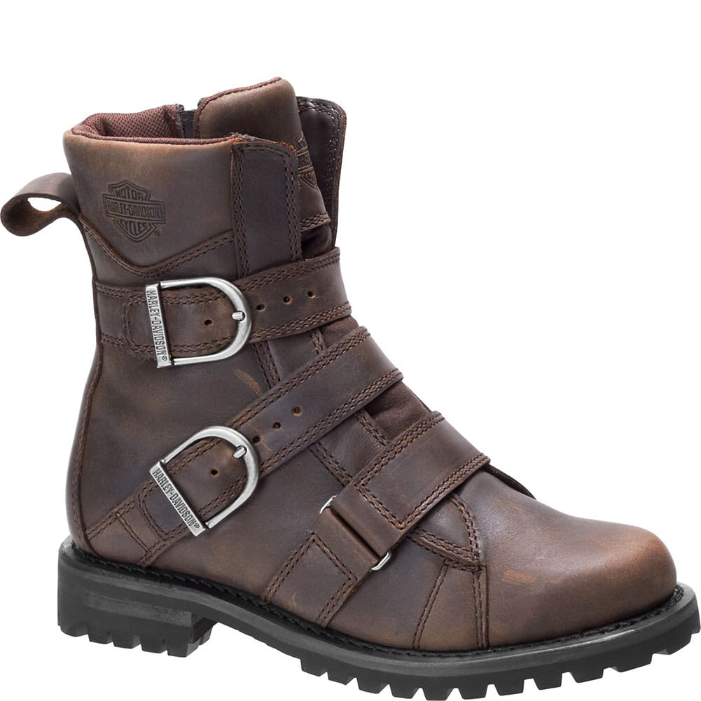Image for Harley Davidson Women's Hemford Motorcycle Boots - Brown from bootbay