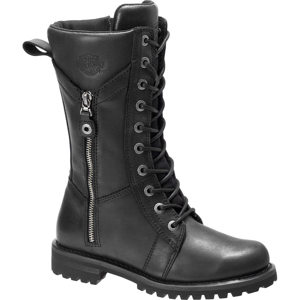 Image for Harley Davidson Women's Harnett Zip Motorcycle Boots - Black from bootbay