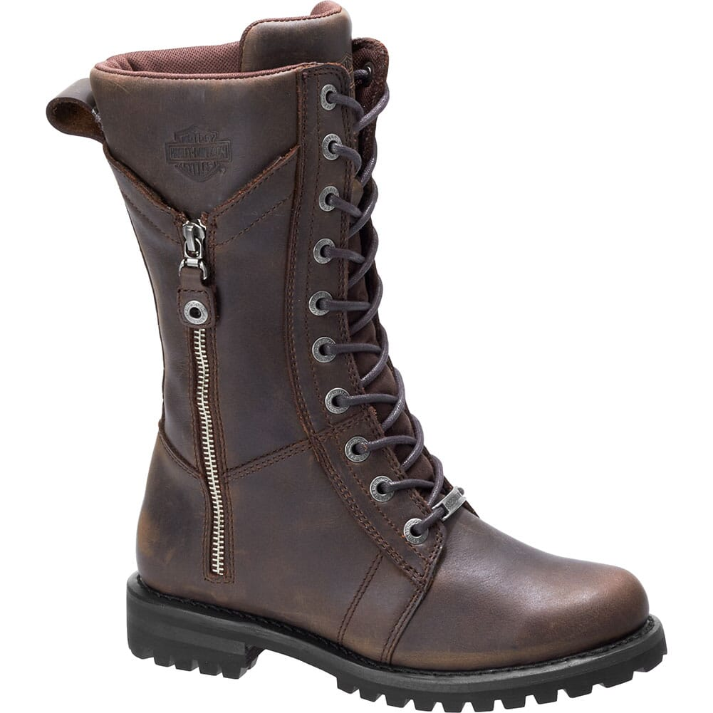 Image for Harley Davidson Women's Harnett Motorcycle Boots - Brown from bootbay