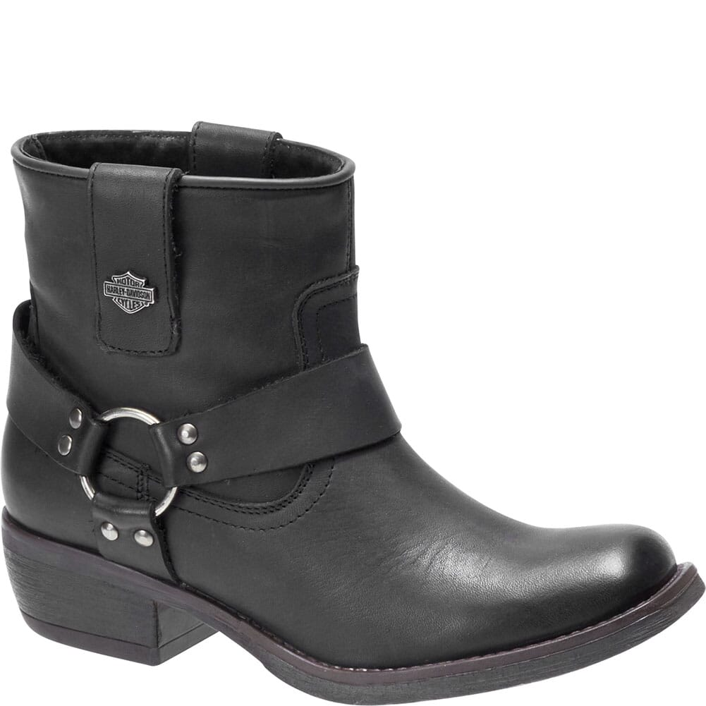 Image for Harley Davidson Women's Abbington Motorcycle Boots - Black from elliottsboots