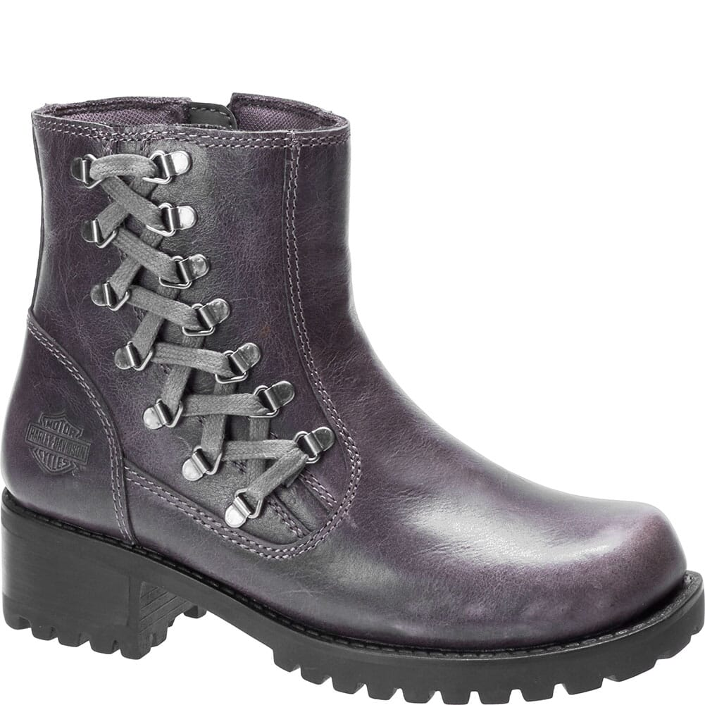 Image for Harley Davidson Women's Hackley Zip Motorcycle Boots - Grey from bootbay