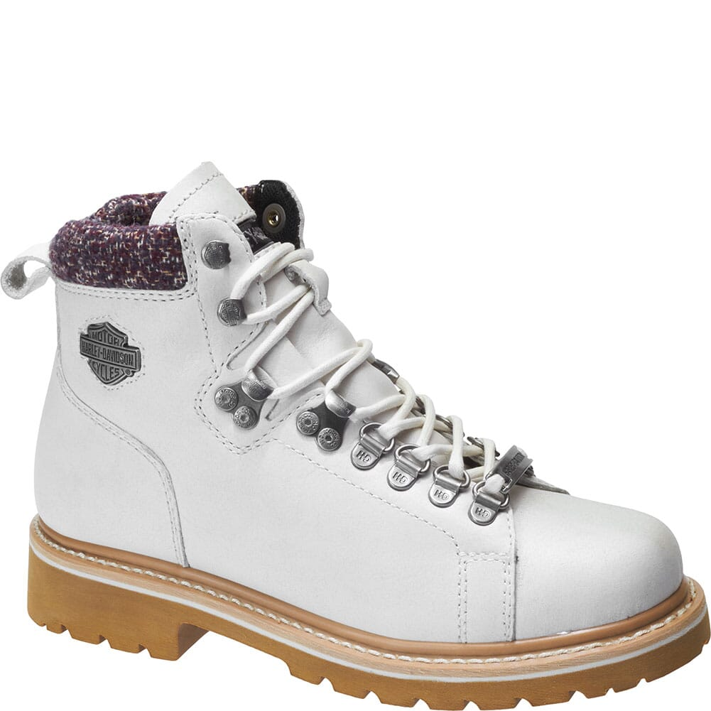 Image for Harley Davidson Women's Akers Motorcycle Boots - White from bootbay