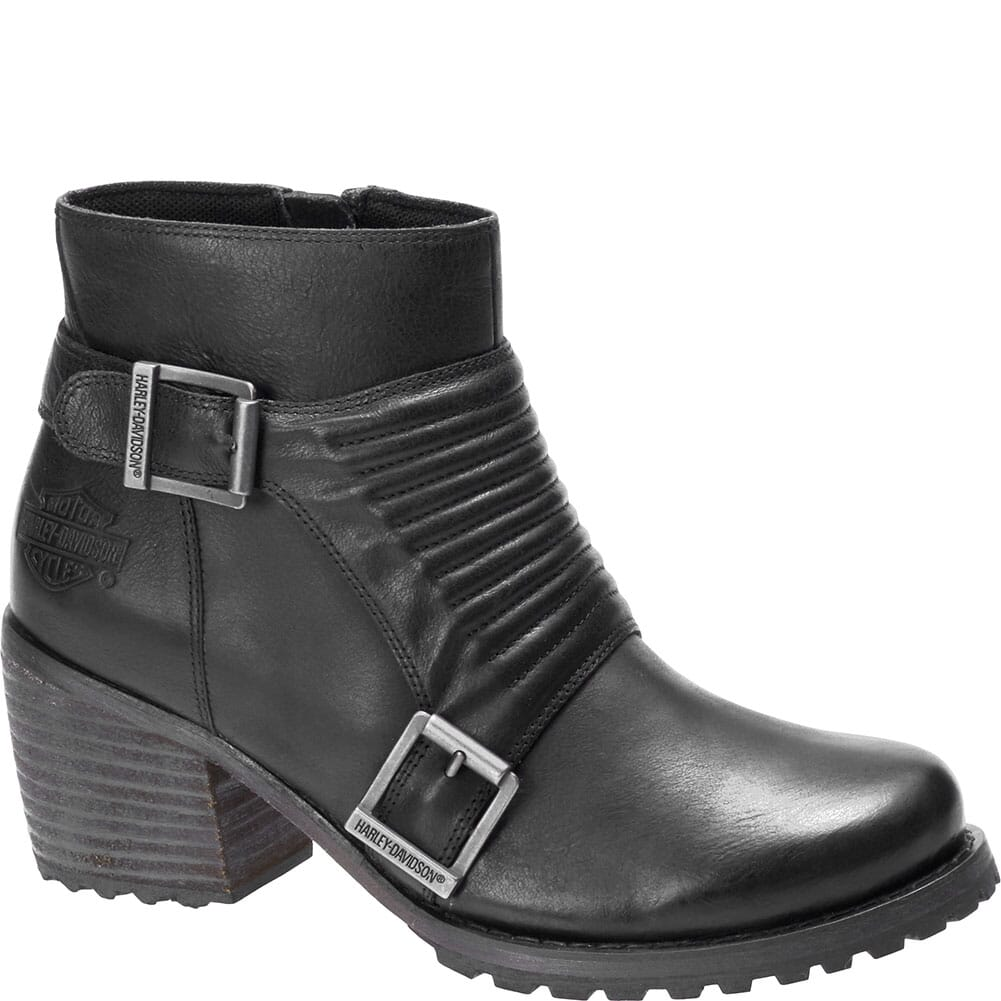 Image for Harley Davidson Women's Caffery Motorcycle Boots - Black from bootbay