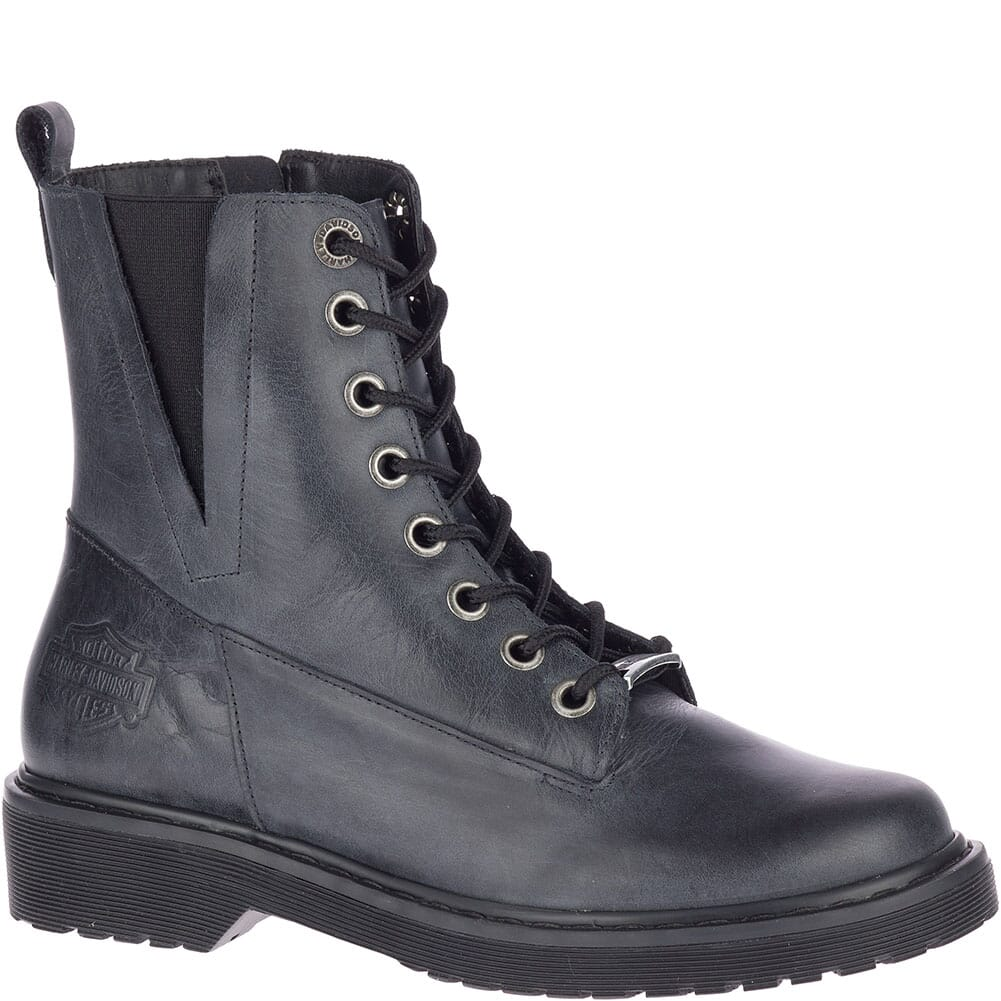 Image for Harley Davidson Women's Anslee Motorcycle Boots - Steel Blue from bootbay