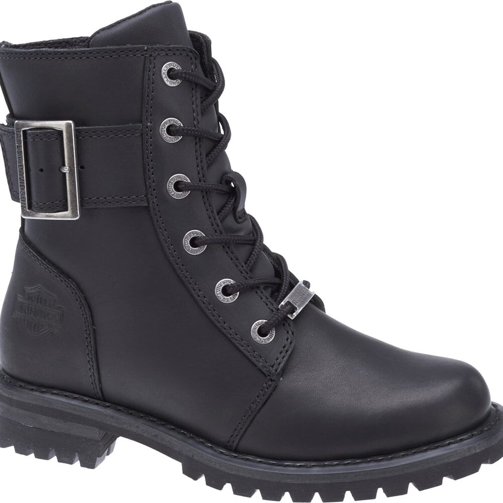 Image for Harley Davidson Women's Sylewood Motorcycle Boots - Black from bootbay