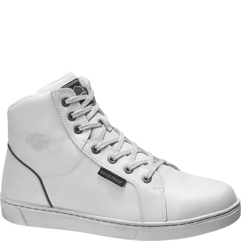 Image for Harley Davidson Men's Bateman Motorcycle Boots - White from bootbay