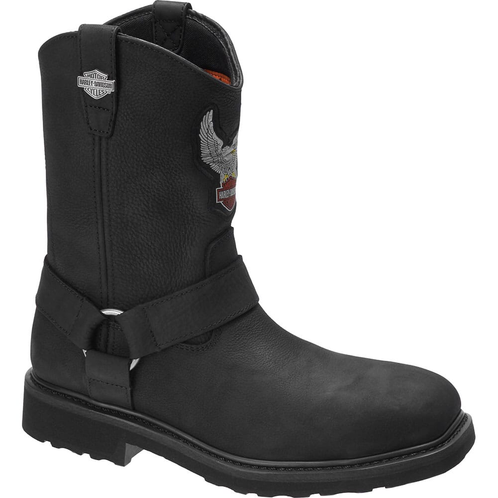 Image for Harley Davidson Men's Ballard Motorcycle Boots - Black from bootbay