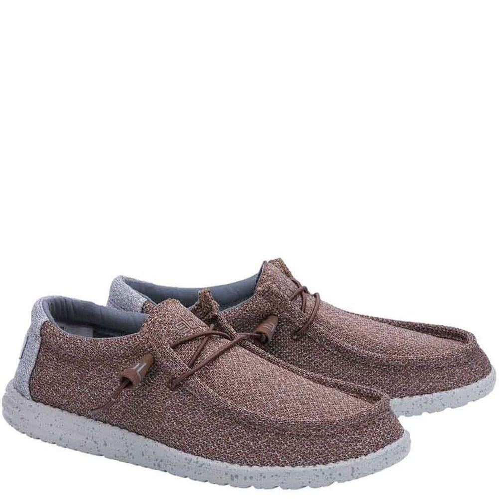 Image for Hey Dude Men's Wally Sox Casual Shoes - Brown Grey from bootbay