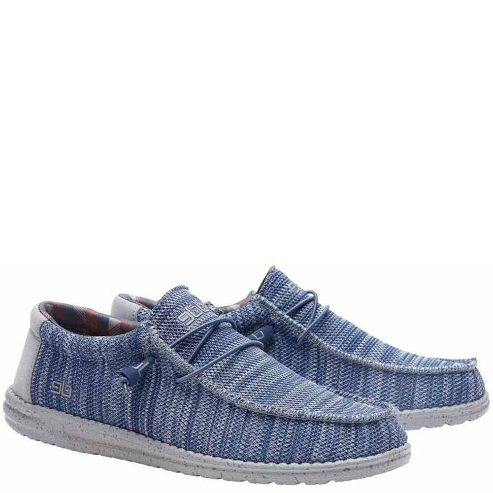 Image for Hey Dude Men's Wally Sox Funk Casual Shoes - Steel Blue Grey from bootbay