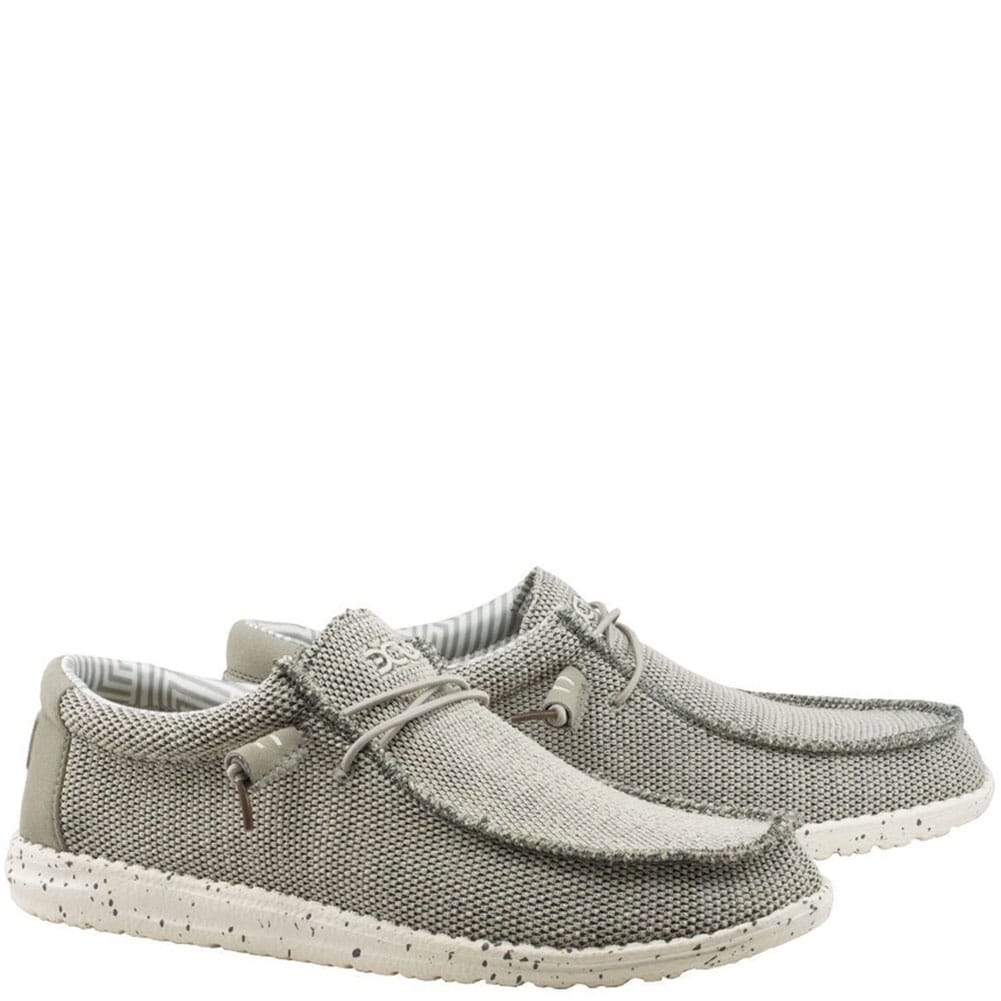 Image for Hey Dude Men's Wally Sox Casual Shoes - Ash from bootbay