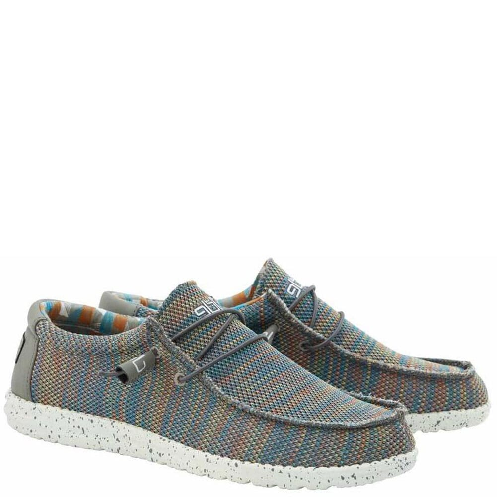 Image for Hey Dude Men's Wally Sox Funk Casual Shoes - Green Peacock from bootbay