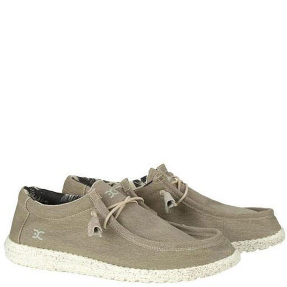 Image for Hey Dude Men's Wally Stretch Casual Shoes - Beige from bootbay