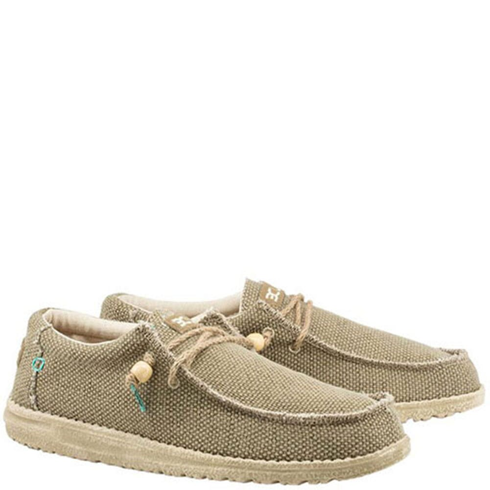 Image for Hey Dude Men's Wally Braided Casual Shoes - Sage from bootbay
